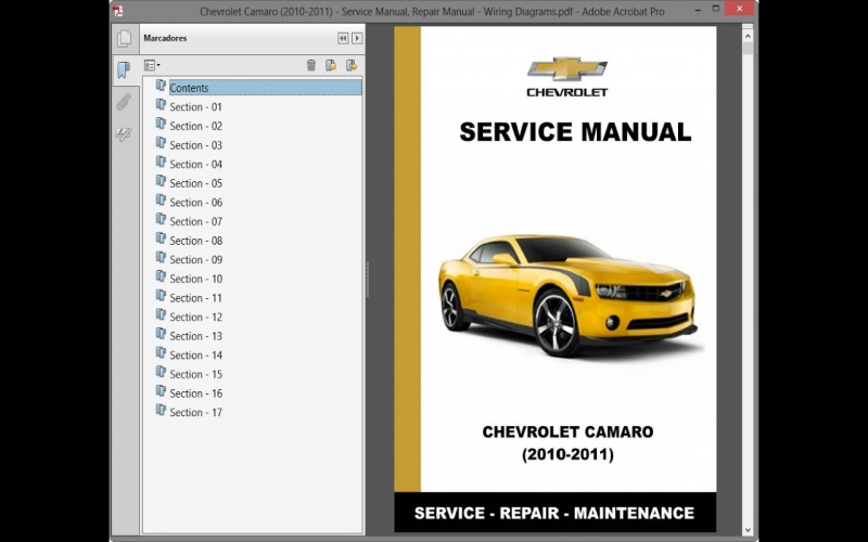 2011 Chevy Camaro Owners Manual Pdf