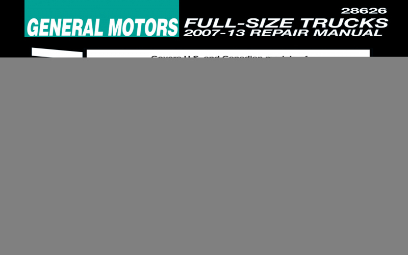 2013 Chevy Avalanche Owners Manual