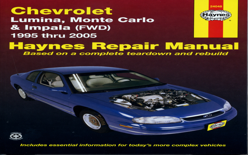 Owners Manual For 2002 Chevy Monte Carlo