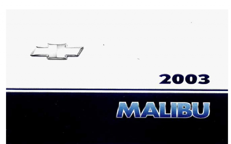 Owners Manual For 2003 Chevy Malibu