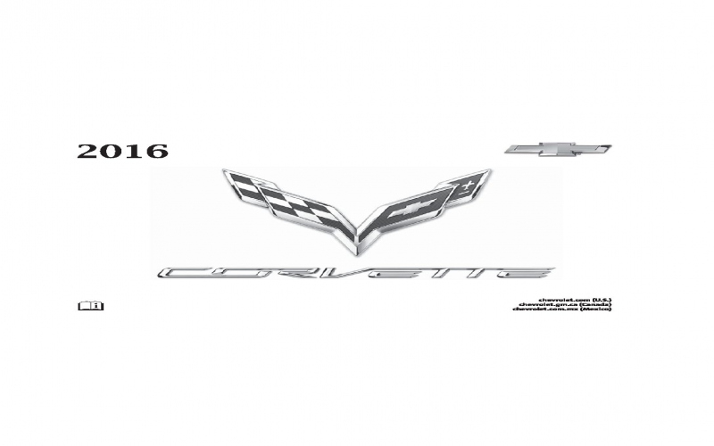 Owners Manual For The 2016 Chevrolet Corvette