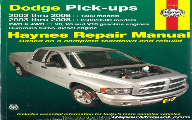 2002 Dodge Ram Owners Manual Online