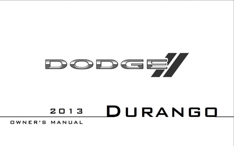 Owners Manual For 2013 Dodge Durango