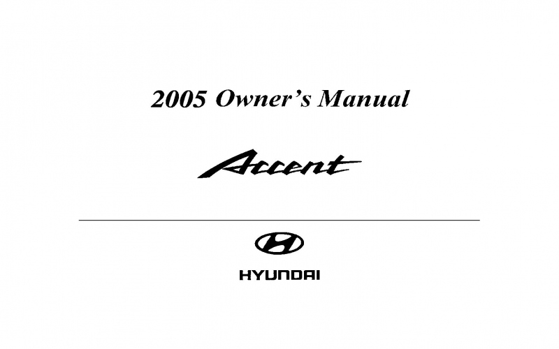 2005 Hyundai Accent Owners Manual Pdf