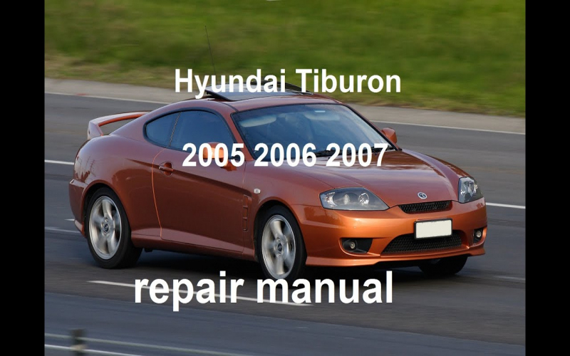 2006 Hyundai Tiburon Gt Owners Manual
