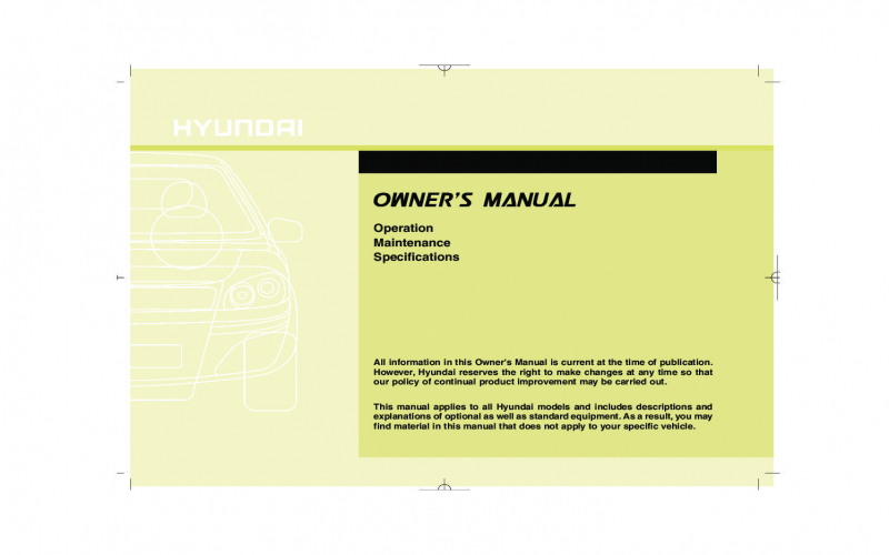 2013 Hyundai Owners Manual