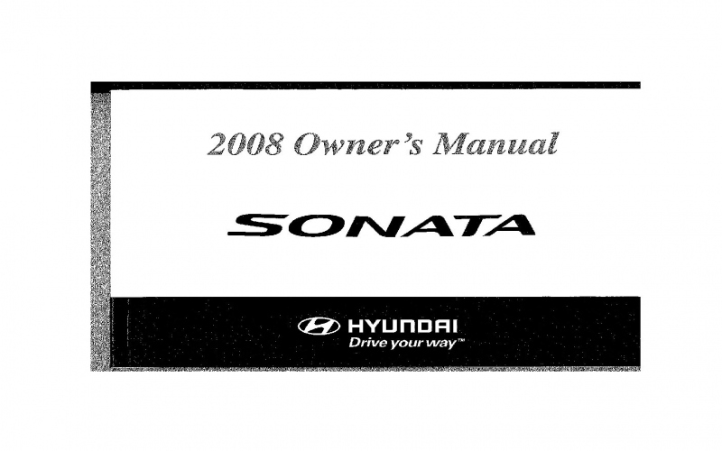 Owners Manual For 2008 Hyundai Sonata