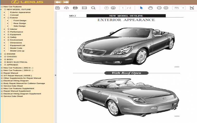 2006 Lexus Sc430 Owners Manual