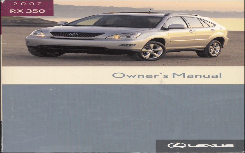2007 Lexus Rx 350 Owners Manual