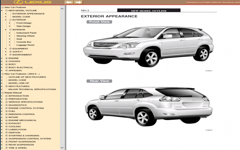 2009 Lexus Rx350 Owners Manual