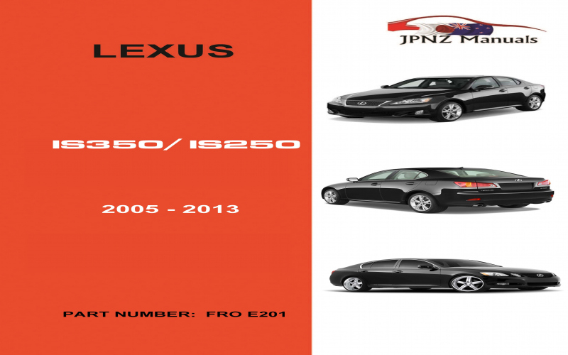 2013 Lexus Is 250 Owners Manual