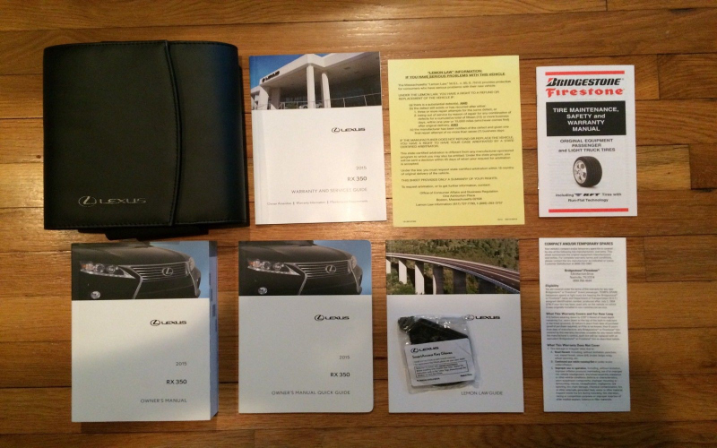 2015 Lexus Rx 350 Owners Manual