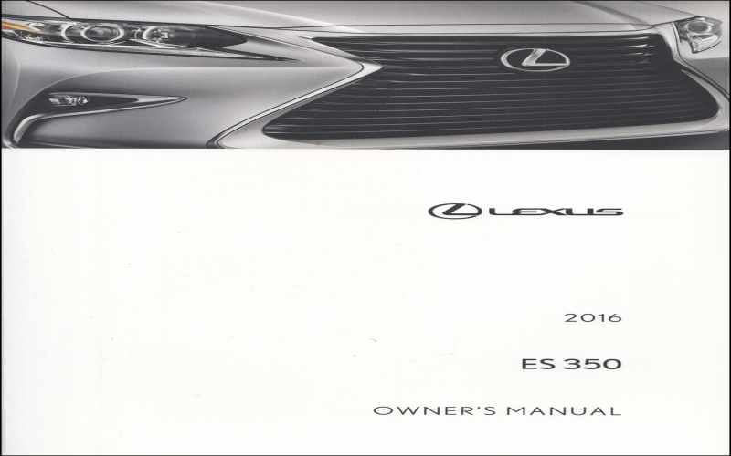 2016 Lexus Es 300h Owners Manual
