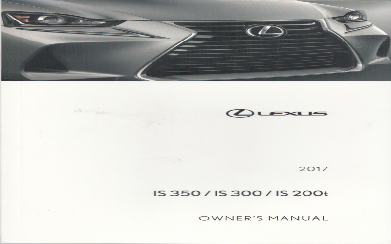 2017 Lexus Is 300 F Sport Owners Manual