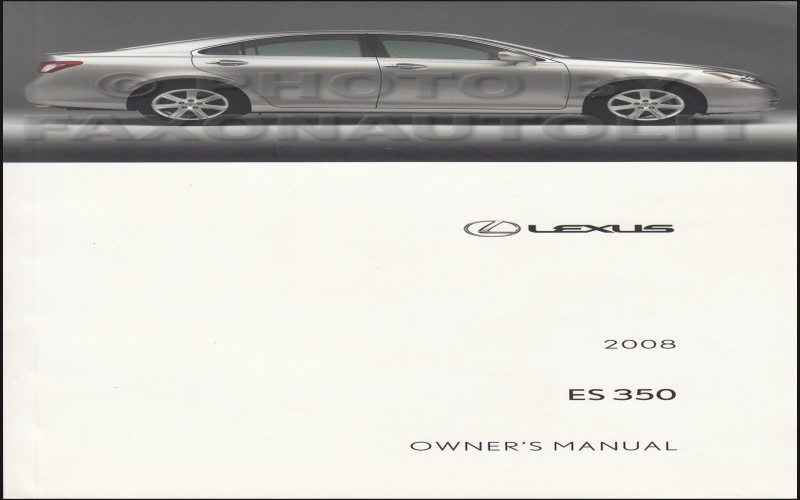 Lexus E350 Owners Manual