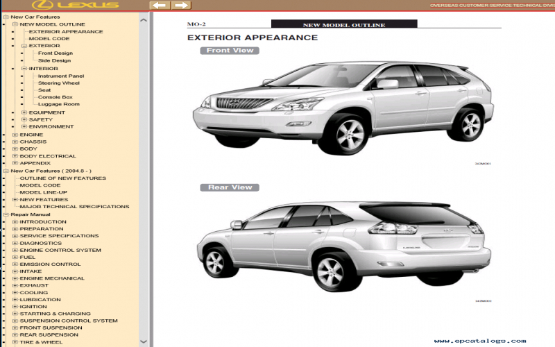 Lexus Rx300 Owners Manual Download