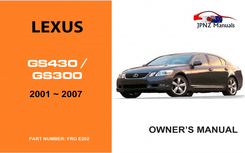 Owners Manual For 2001 Lexus Gs300