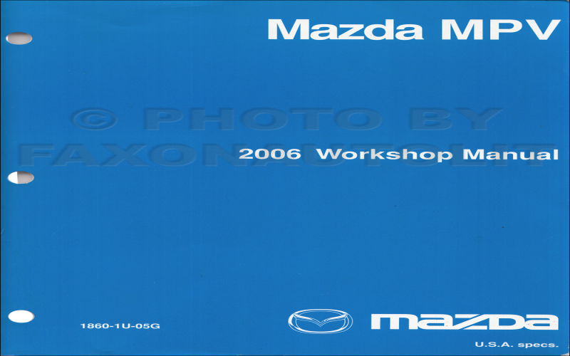 2006 Mazda Mpv Owners Manual
