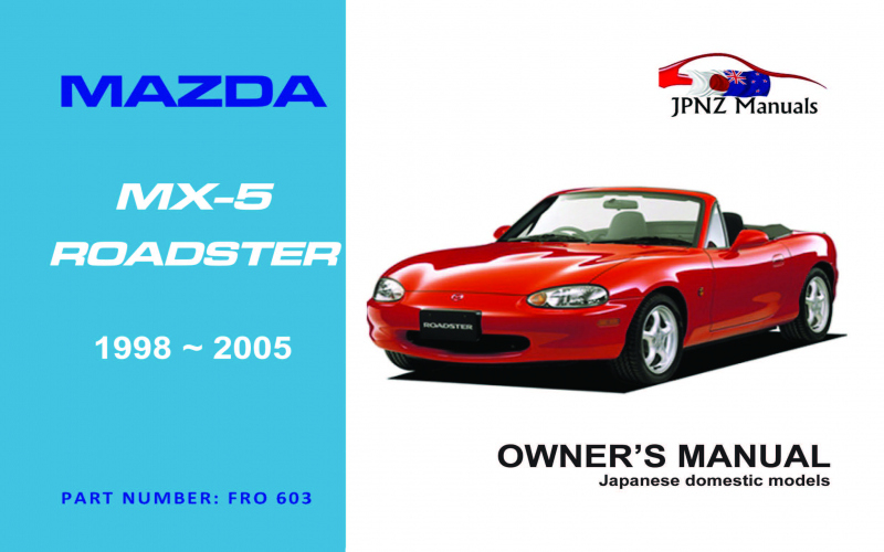 Mazda Mx 5 Owners Manual