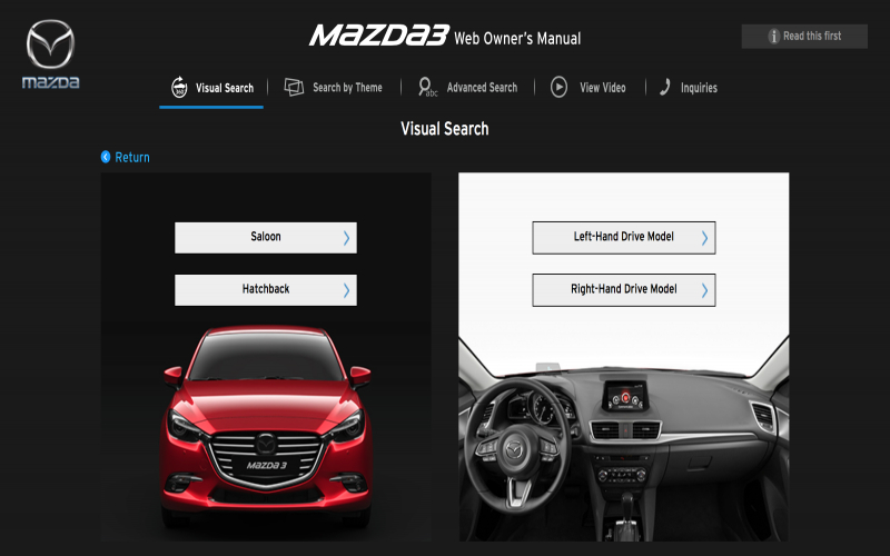 Mazda Owners Manual Online