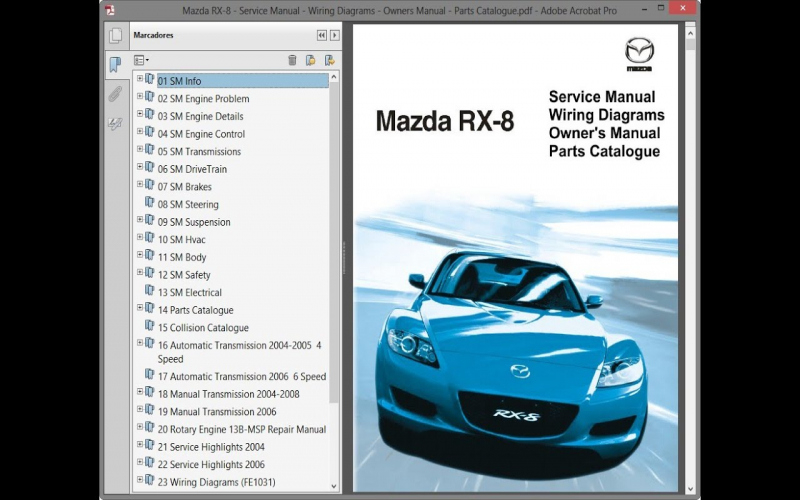 Mazda Rx 8 Owners Manual 2006 Pdf