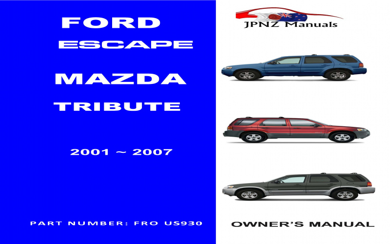 Mazda Tribute Owners Manual